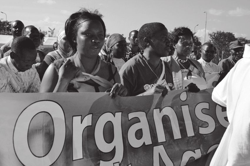 Demonstration on the occasion of the World Social Forum in Nairobi, 2008. © Gaël Grilhot