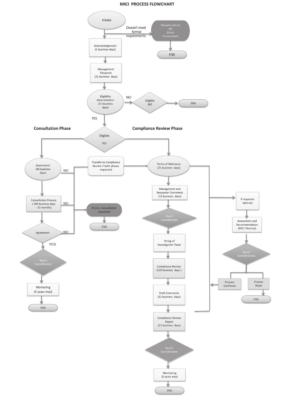 MICI Process Flowchart